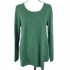 J. Jill Asymmetrical Wool Blend Sweater